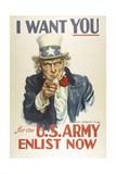 Military and War Posters: I Want YOU for the U.S. Army. James Montgomery Flagg Digitálně vytištěná reprodukce