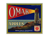 Warshaw Collection of Business Americana Food; Fruit Crate Labels, Omak Fruit Growers Giclee Print
