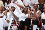 Miami, FL - JUNE 9 Chris Bosh, LeBron James and Dwyane Wade Photographic Print