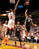Miami, FL - JUNE 9 Tony Parker and Dwyane Wade Photographic Print