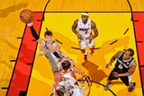 Miami, FL - JUNE 9 Tiago Splitter, Mike Miller and Chris Andersen Photographic Print