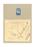 National Postal Museum: Design Sketch for Byrd Antarctic Issue Giclee Print