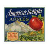 Business Americana Food; Fruit Crate Labels, Columbia Basin Orchards Giclee Print