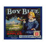 Fruit Crate Labels: Boy Blue Brand Wenatchee Apples; East Wenatchee Fruit Growers Giclee Print