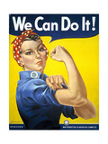 Military and War Posters: We Can Do It! J Howard Miller, 1942 Giclee Print