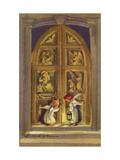 Greeting Card - Two Angels at Church Doors, National Museum of American History Giclee Print
