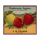 Warshaw Collection of Business Americana Food; Fruit Crate Labels, J. M. Palmer Giclee Print