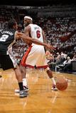 Miami, FL - JUNE 9 LeBron James and Kawhi Leonard Photographic Print
