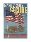 Center Warshaw Collection U.S. Treasury Poster. MAKE VICTORY SECURE. BUY VICTORY BONDS. Giclee Print