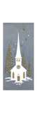 Greeting Card - White Church with Gold Door, National Museum of American History Giclee Print