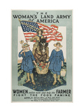 Military and War Posters: The Woman's Land Army of America, 1918 Giclee Print