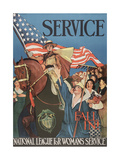 Service, Fall In! National League for Women's Service. Lucile Patterson Giclee Print
