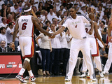 Miami, FL - JUNE 9 Chris Bosh and LeBron James Photographic Print