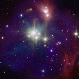 Corona Australis region, one of the nearest and most active regions of star formation in our Galaxy Photographic Print