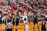 Miami, FL - JUNE 9 LeBron James, Tiago Splitter and Kawhi Leonard Photographic Print