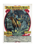 "Sheet Music Covers: ""Paul Revere's Ride"" By. E.T. Paul Giclee Print"