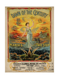 "Sheet Music Covers: ""Dawn of the Century"" Composed by E. T. Paull, 1900 Giclee Print"