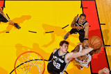 Miami, FL - JUNE 9 Tiago Splitter and Udonis Haslem Photographic Print