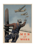 Center Warshaw Collection, Men At Work Giclee Print