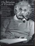 The Wisdom of Einstein Stretched Canvas Print