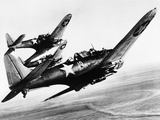 Three US Navy Dauntless Dive Bombers on a Fighting Mission in the Pacific, 1943 Photo