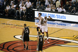 Miami, FL - JUNE 9 LeBron James and Mike Miller Photographic Print