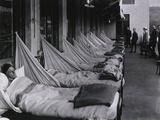 Pneumonia Porch at U.S. Army Hospital During Spanish Flu Epidemic 1918-19 Photo