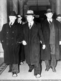 Louis 'Lepke' Buchalter Handcuffed to J. Edgar Hoover in NYC, Ca. 1939 Photo