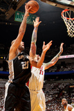 Miami, FL - JUNE 6 Tim Duncan and Chris Andersen Photographic Print