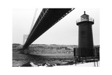 Bridge and Lighthouse Photographic Print by Evan Morris Cohen