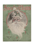 Collection of Illustrated American Sheet Music, Cover of Santa Claus, composed by Fred Vokoun Giclee Print