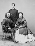 George Armstrong Custer, Seated with His Wife Elizabeth and His Brother, Thomas W. Custer Poster