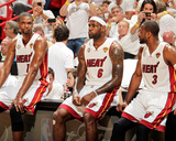 Miami, FL - JUNE 9 Chris Bosh, LeBron James and Dwyane Wade Photo