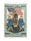 The Woman's Land Army of America poster, Center Princeton University Poster Collectio Giclee Print