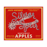 Fruit Crate Labels: Silver Spur Northwest Apples Giclee Print