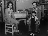 Japanese American Family in their Barracks Home at Manzanar Relocation Center, 1943 Posters