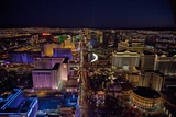 Night Aerial View of the Las Vegas Strip, Nevada, July 2009 Photographic Print