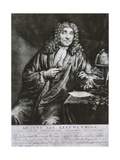Anthony Van Leeuwenhoek Was the First to Observe Microscopic Life in 1686 Print Art