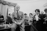 President Ford Talks with Reporters Including Helen Thomas in Oval Office, 1976 Prints