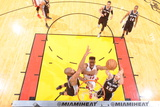 Miami, FL - JUNE 6 Norris Cole, Tim Duncan and Matt Bonner Photographic Print