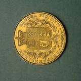 1 of 2 Remaining Coins of Jame's Smithson's Donated Fortune, National Museum of American History Photographic Print
