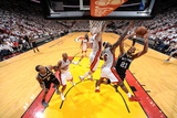 Miami, FL - JUNE 6 Tim Duncan, Chris Andersen and LeBron James Photographic Print
