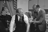 President Gerald Ford Receives a Swine Flu Inoculation on Oct. 14, 1976 Photo