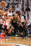 Miami, FL - JUNE 6 Tim Duncan and Chris Bosh Photographic Print