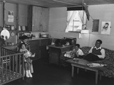 Japanese American Family in their Barracks Home at Manzanar Relocation Center, 1943 Prints