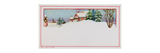 Gift Tag with Winter Scene of Snow Covered House with Chimney, National Museum of American History Giclee Print