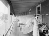 Walter Reed Hospital Flu Ward During the Spanish Flu Epidemic of 1918-19, in Washington DC Prints