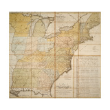 National Postal Museum: 1796 Postal Route Map Giclee Print