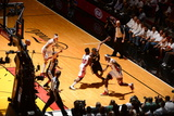 Miami, FL - JUNE 9 LeBron James and Norris Cole Photographic Print