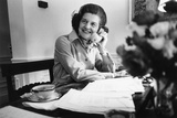 Betty Ford Works at Her Desk in the White House, 1974-76 Photo